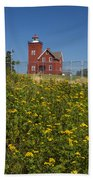 Two Harbors Mn Lighthouse 22 Beach Towel