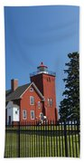 Two Harbors Mn Lighthouse 24 Beach Towel