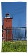 Two Harbors Mn Lighthouse 25 Beach Towel