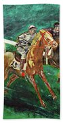 Two Horse Race Beach Towel