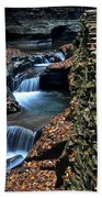 Two Kinds Of Steps Beach Towel by Frozen in Time Fine Art Photography