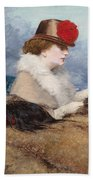 Two Ladies In A Carriage Ride Beach Towel