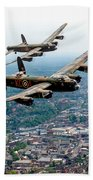 Two Lancasters Over High Wycombe Beach Towel
