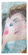 Two Lovers Kissing Beach Towel