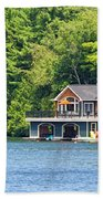 Two Luxury Boathouses Beach Towel