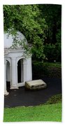Two Meditating Cupolas In Fort Canning Park Singapore Beach Towel