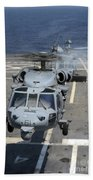 Two Mh-60s Sea Hawk Helicopters Take Beach Towel
