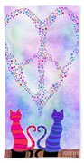 Two Of Hearts Beach Towel