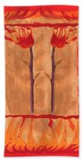 Two Of Wands Beach Towel