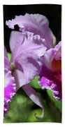 Two Orchids  Beach Towel