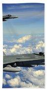 Two Royal Australian Air Force Fa-18 Beach Towel