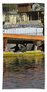Two Shikaras Next To Each Other In The Dal Lake Beach Towel