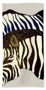 Two Zebras Beach Towel