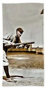 Ty Cobb Painting Beach Towel