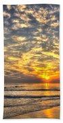Calm Seas And A Tybee Island Sunrise Beach Towel