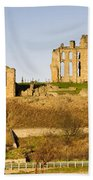 Tynemouth Priory And Castle Beach Towel