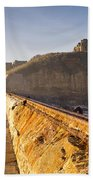 Tynemouth Priory And Castle From North Pier Beach Towel