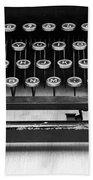 Typewriter Triptych Part 2 Beach Towel