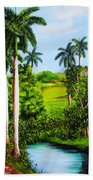 Typical Country Cuban Landscape Beach Towel