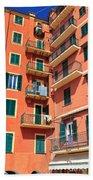Typical Ligurian Homes Beach Towel
