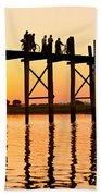 U Bein Bridge - Myanmar Beach Towel