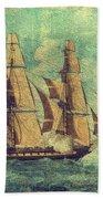 U S S Constitution 1803-1804 Beach Towel