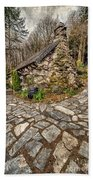 Ugly Cottage Beach Towel by Adrian Evans
