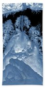 Ultraviolet Cave In Winter Beach Towel