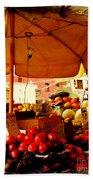 Umbrella Fruitstand - Autumn Bounty Beach Towel