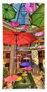 Umbrellas At Palazzo Shops Beach Towel