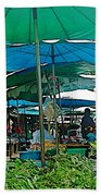 Umbrellas In The Marketplace In Tachilek-burma Beach Towel