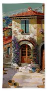 Un Cielo Verdolino Beach Towel by Guido Borelli