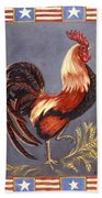 Uncle Sam The Rooster Beach Towel