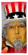 Uncle Sam Wants You Beach Towel