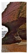 Under Fundy Feet In Big Cove At Hopewell Rocks-new Brunswick Beach Towel