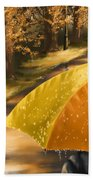Under The Rain Beach Towel