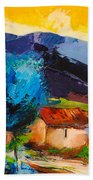 Under The Tuscan Sky Beach Towel by Elise Palmigiani