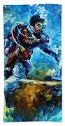 Under Water Beach Towel by Leonid Afremov