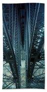 Underside Of A Bridge, Hudson Valley Beach Towel