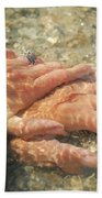 Underwater Hands Beach Towel