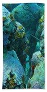 Underwater Tourists Beach Towel
