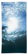 Surfing Into The Eye Beach Towel by Sean Davey