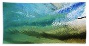 Underwater Wave Curl Beach Towel
