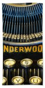 Underwood Typewriter Beach Towel