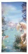 Unicorns Lake Beach Towel