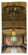 Union Station Chandelier Beach Towel