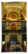 Union Station Lobby-large Size Beach Towel