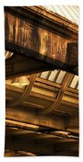Union Station Roof Beams Beach Towel