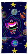 United Planets Of Eurotrazz Beach Towel