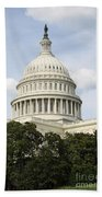 United State Capitol Dome Washington Dc Beach Towel